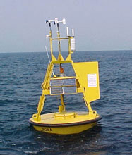 A 3-meter Discus Buoy like the one near Christmas Island (NDBC)