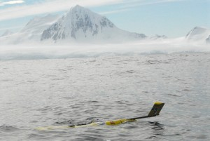 A Rutgers glider off the coast of the Antarctic Peninsula