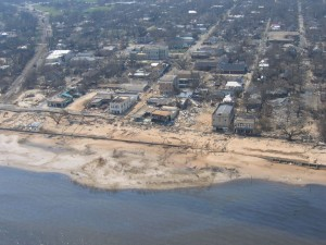 Coastal Damage after Hurricane Katrina (photo courtesy of Joe Swaykos)