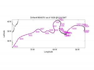 Drifter #1 Gulf Stream Deplyoment