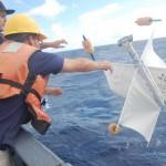 Cape Fear students toss the drifter