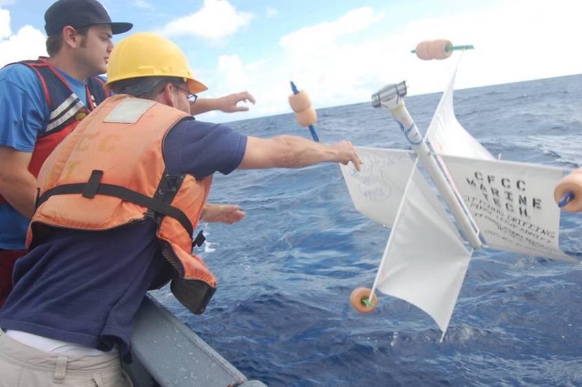 CAPE FEAR STUDENTS LAUNCHING THEIR OCEAN DRIFTER