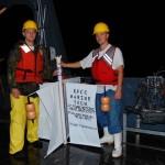 Cape Fear nighttime drifter launch