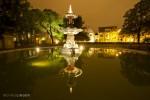 Christchurch fountain at night