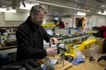 Allen setting up fluorometer