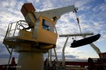 Crane lowering zodiac