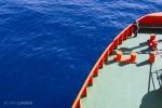 Blue water, bright sun