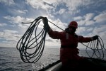 Coiling the bowline for a throw