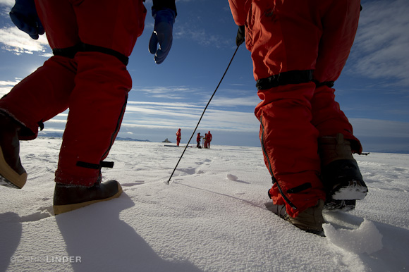 Probing the fast ice