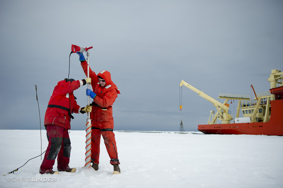 Two meters of sea ice