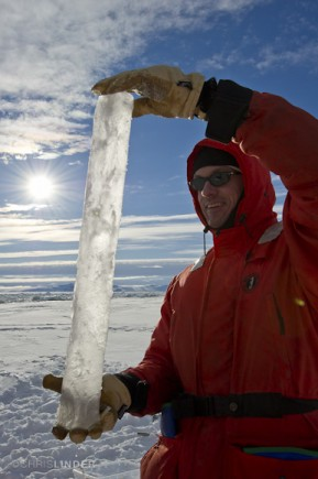 Gleaming ice core