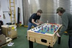 Foosball in the helo hangar