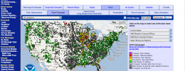 A map of the Advanced Hydrologic Prediction Service (AHPS) river forecasts