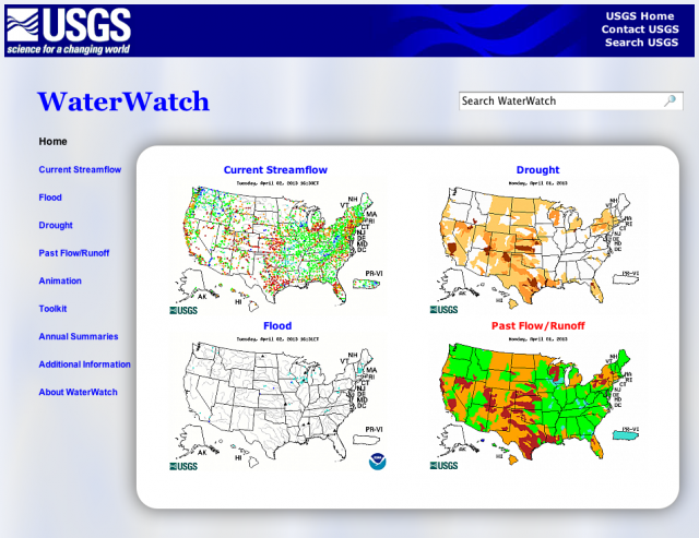 USGS WaterWatch Web Site