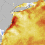 1 week change in Sea Surface Temperature from July 12 to 19, 2013